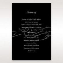 Black Traditional Birde and Groom - Order of Service - Wedding Stationery - 42