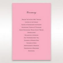 Pink Pretty in Pink Modern Couture - Order of Service - Wedding Stationery - 52