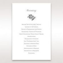 Blue Handmade Jeweled Floral - Order of Service - Wedding Stationery - 90