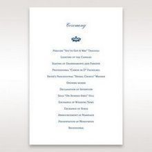Blue Jeweled Borders - Order of Service - Wedding Stationery - 93