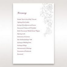 Pink Embossed Romantic Couture, Pink - Order of Service - Wedding Stationery - 5