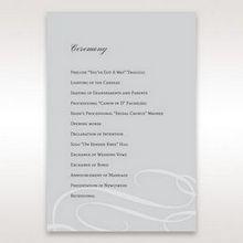 Silver/Gray Elegant Swirls; Silver & White - Order of Service - Wedding Stationery - 14