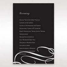 Black  Elegant Swirls, Silver & White - Order of Service - Wedding Stationery - 15