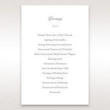 Black Majestic Black, White and Red - Order of Service - Wedding Stationery - 23