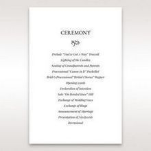 White Romantic Laser Cut - Order of Service - Wedding Stationery - 70