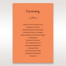 Orange Laser Peacock Laser Cut Pocket With Foil - Order of Service - Wedding Stationery - 81