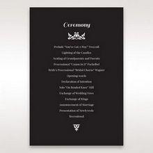 Black Vintage Rose Layered Laser Cut - Order of Service - Wedding Stationery - 79
