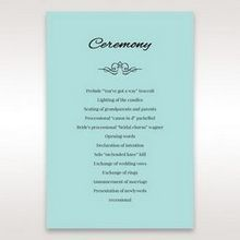 Blue Laser Wild Roses Laser Cut Wrap - Order of Service - Wedding Stationery - 87