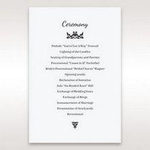 White Laser Gated Elegance Laser Cut Pocket - Order of Service - Wedding Stationery - 63
