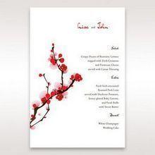 Red Plum Blossoms - Menu Cards - Wedding Stationery - 32