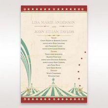 Red Big Top Celebration - Menu Cards - Wedding Stationery - 60