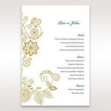 Yellow/Gold Splendid Golden Swirls - Menu Cards - Wedding Stationery - 4