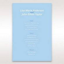 Blue Side by Side - Menu Cards - Wedding Stationery - 23