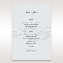 Silver/Gray Traditional Birde and Groom - Menu Cards - Wedding Stationery - 58