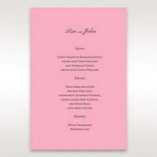 Pink Pretty in Pink Modern Couture - Menu Cards - Wedding Stationery - 16