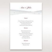 Pink Urban Couture with Jewels - Menu Cards - Wedding Stationery - 79