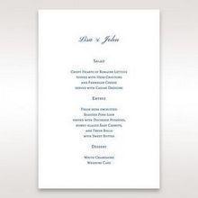 Blue Urban Chandelier - Menu Cards - Wedding Stationery - 33