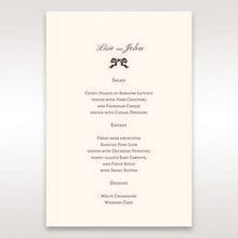 Brown Shimmering Gold Floral Chains - Menu Cards - Wedding Stationery - 90