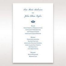 Blue Jeweled Borders - Menu Cards - Wedding Stationery - 66