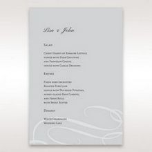 Silver/Gray Elegant Swirls; Silver & White - Menu Cards - Wedding Stationery - 7
