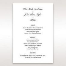 Silver/Gray Kinne Ivory - Menu Cards - Wedding Stationery - 26
