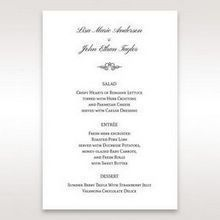 Silver/Gray Kinne White - Menu Cards - Wedding Stationery - 47