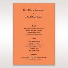Orange Laser Peacock Laser Cut Pocket With Foil - Menu Cards - Wedding Stationery - 8