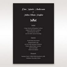 Black Vintage Rose Layered Laser Cut - Menu Cards - Wedding Stationery - 93