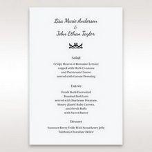 White Laser Gated Elegance Laser Cut Pocket - Menu Cards - Wedding Stationery - 10