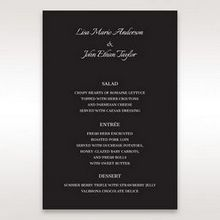 Black Laser Contempo Laser Cut Pocket - Menu Cards - Wedding Stationery - 58