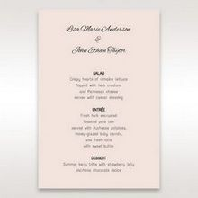 White Laser Inseparable Wrap - Menu Cards - Wedding Stationery - 39