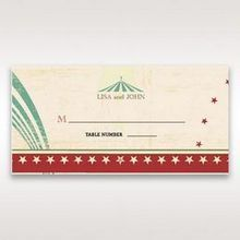Red Big Top Celebration - Place Cards - Wedding Stationery - 77