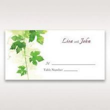 Green Natural Ivy - Place Cards - Wedding Stationery - 25