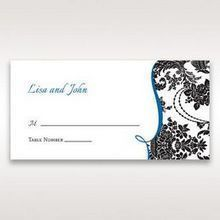 Black Black Grandeur - Place Cards - Wedding Stationery - 62