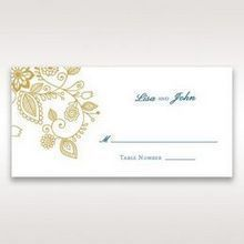 Yellow/Gold Splendid Golden Swirls - Place Cards - Wedding Stationery - 92