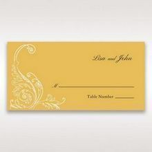 Yellow/Gold Urban Chic with Gold Swirls - Place Cards - Wedding Stationery - 80