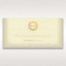 Orange Faded Modern Retro - Place Cards - Wedding Stationery - 37