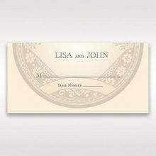 Yellow/Gold Around the Globe with Love - Place Cards - Wedding Stationery - 80