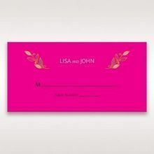 Pink Wild Floral Wreath - Place Cards - Wedding Stationery - 1