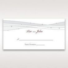 Pink Urban Couture with Jewels - Place Cards - Wedding Stationery - 28