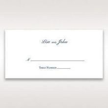 Blue Classic Embossed with a Brooch - Place Cards - Wedding Stationery - 31