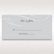 Silver/Gray Elegant Swirls; Silver & White - Place Cards - Wedding Stationery - 21