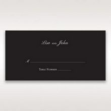 Black  Elegant Swirls, Silver & White - Place Cards - Wedding Stationery - 70