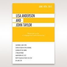 Yellow/Gold Tagnetteli - Engagement Invitations - 24