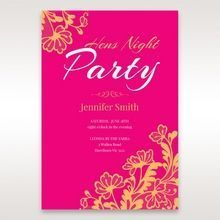 Pink Lace and Glamour - Hens Night Invitations - 86