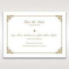 Yellow/Gold Romatic Classic - Save the Date - Wedding Stationery - 88