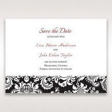 Black Majestic - Save the Date - Wedding Stationery - 14
