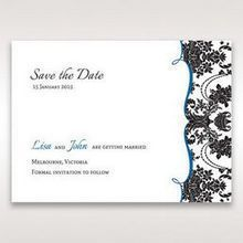Black Black Grandeur - Save the Date - Wedding Stationery - 49