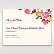 Red Flowers & Gemstones - Save the Date - Wedding Stationery - 49