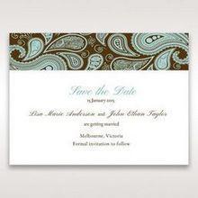 Blue Vintage Swirls - Save the Date - Wedding Stationery - 13